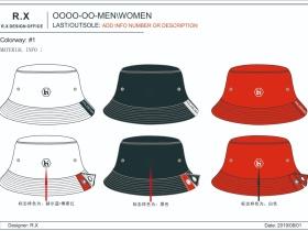 时尚渔夫帽设计图
