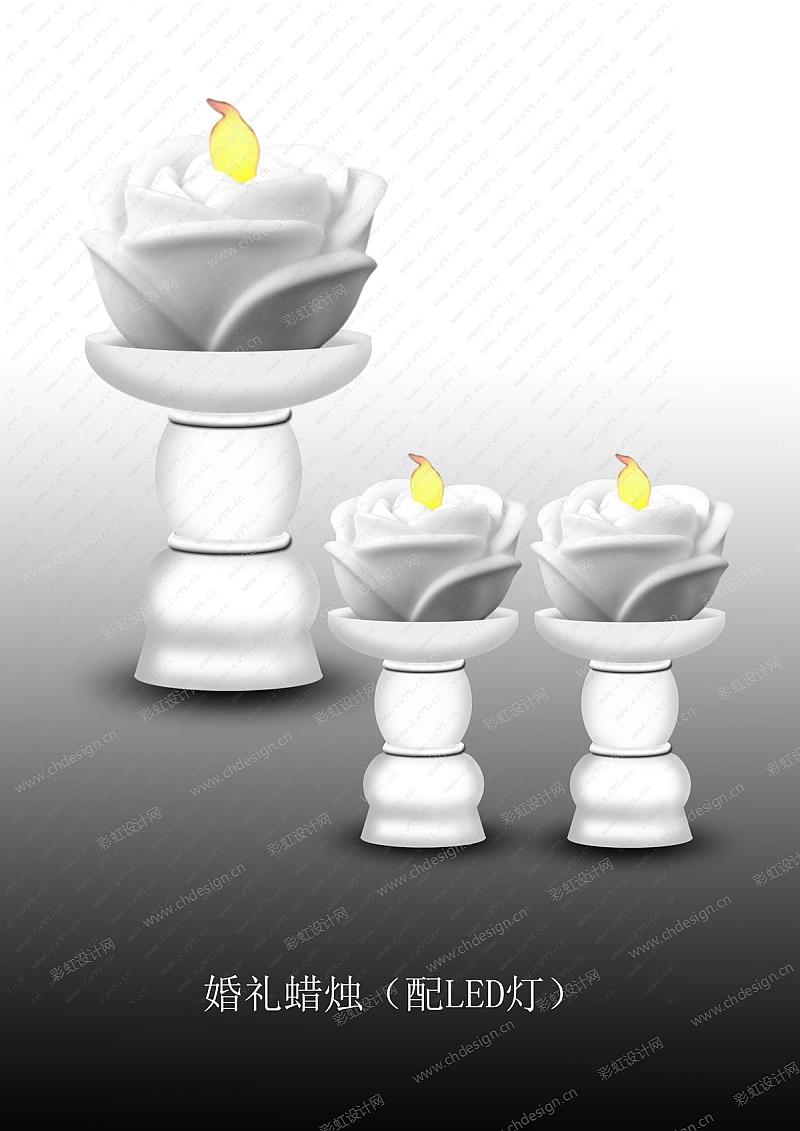 婚礼蜡烛(配LED灯)