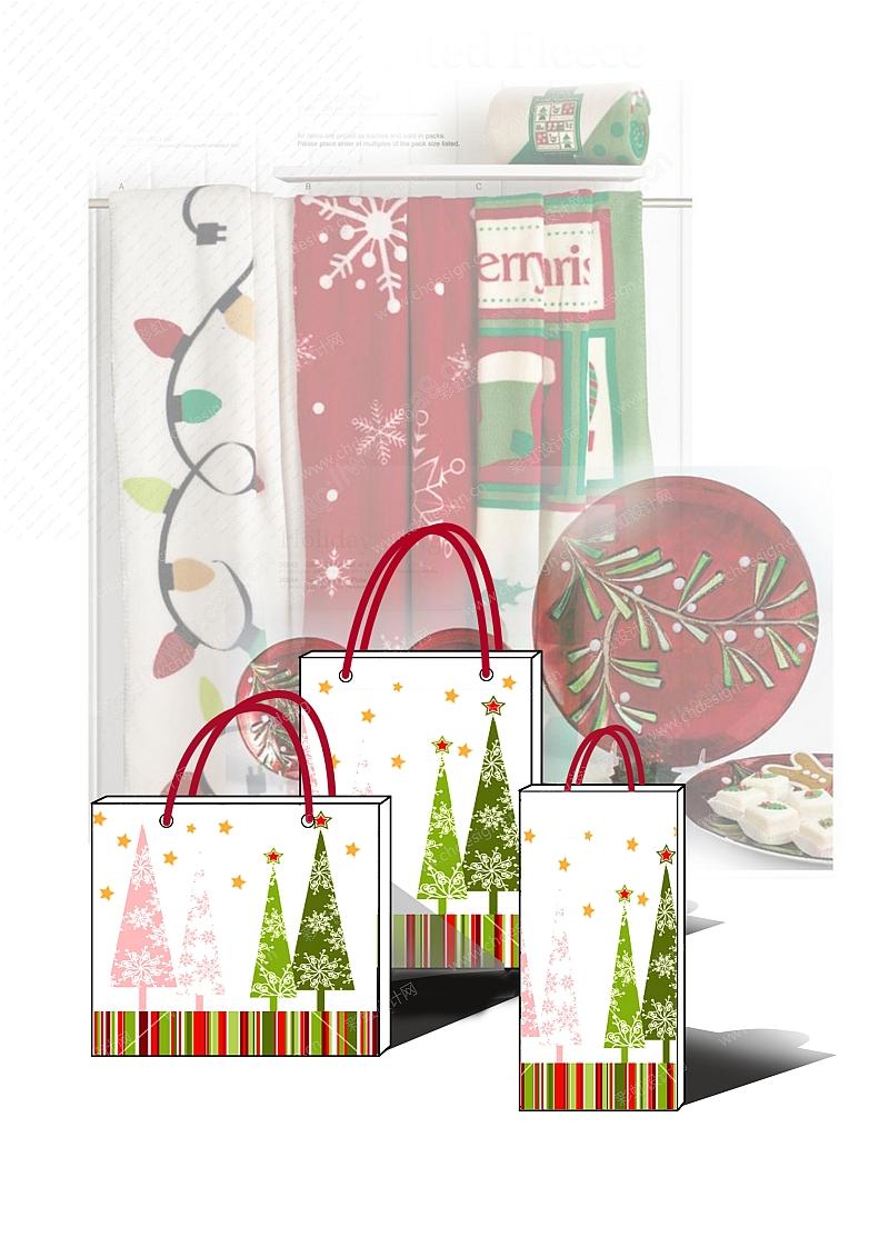 圣诞树纸袋