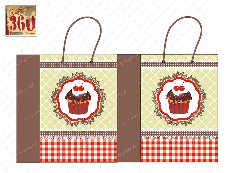 圣诞平面纸袋设计