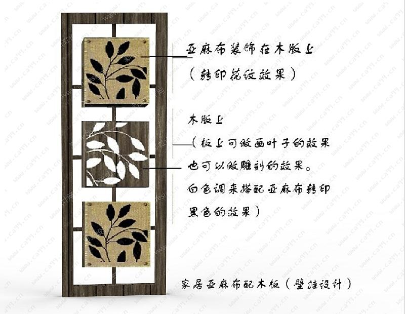 家居产品设计转印布艺(壁挂)