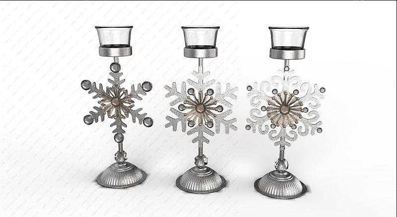 圣诞雪花烛台
