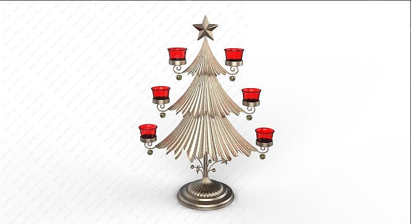 圣诞树烛台