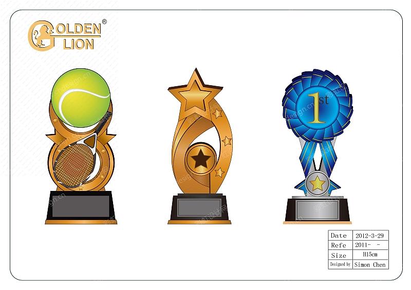 网球、星星、徽章奖牌