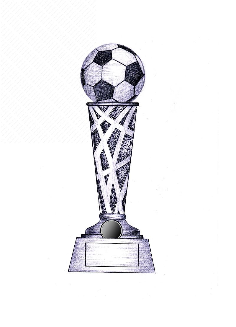 树脂足球奖杯