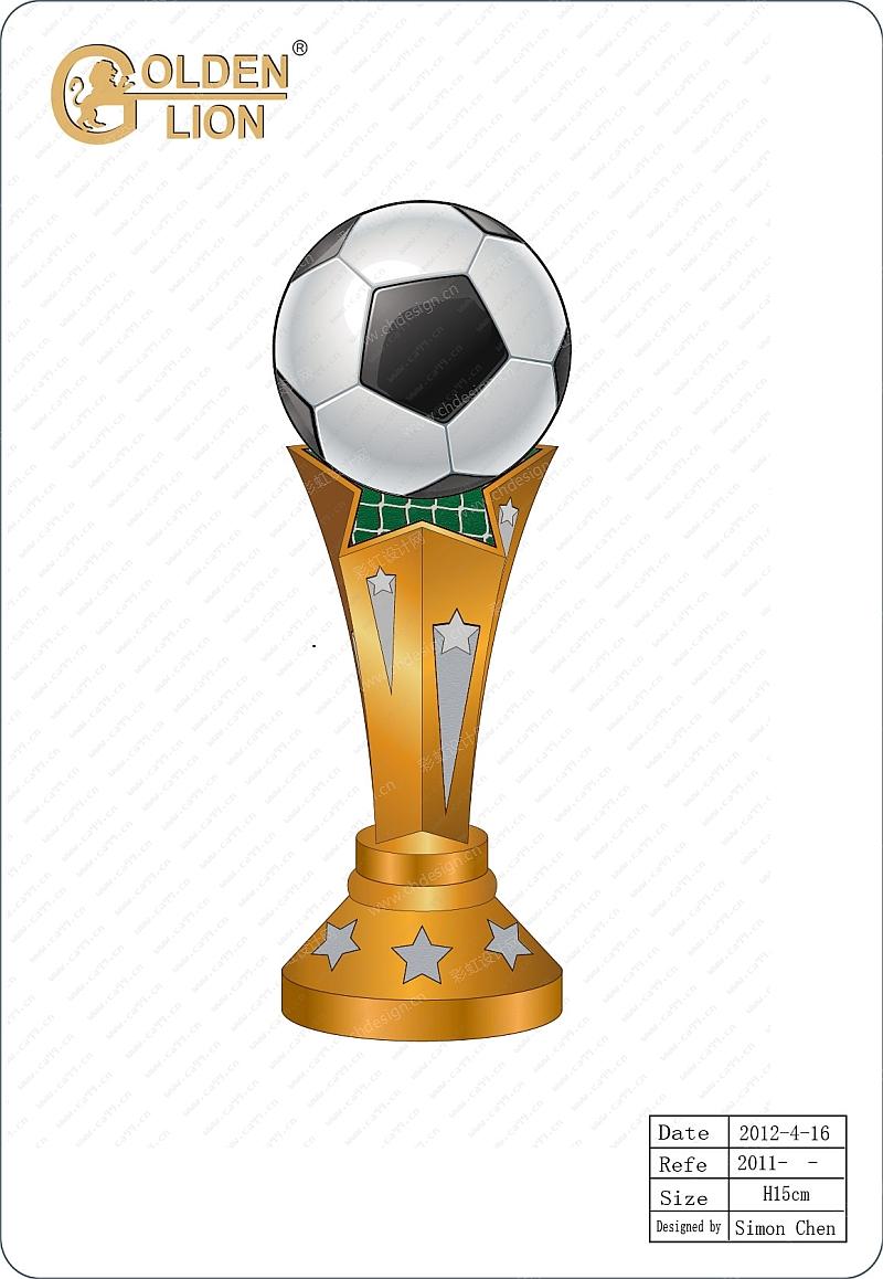 足球星形奖杯