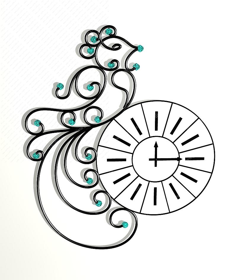 花鸟类欧式风挂钟