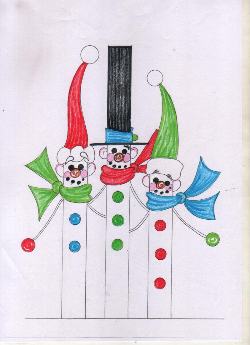 圣诞老公精灵摆件