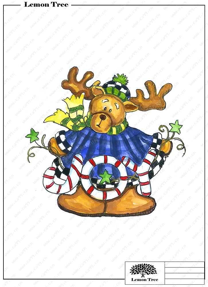 圣诞陶瓷配铁器吊饰