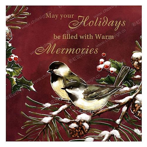 圣诞红鸟系列