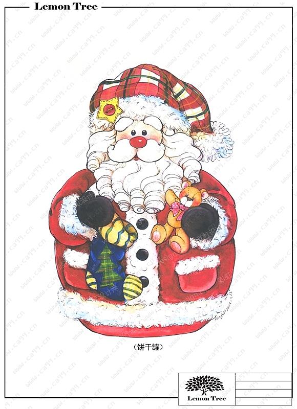 圣诞老公饼干罐