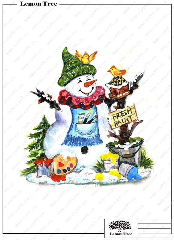 圣诞雪人摆件