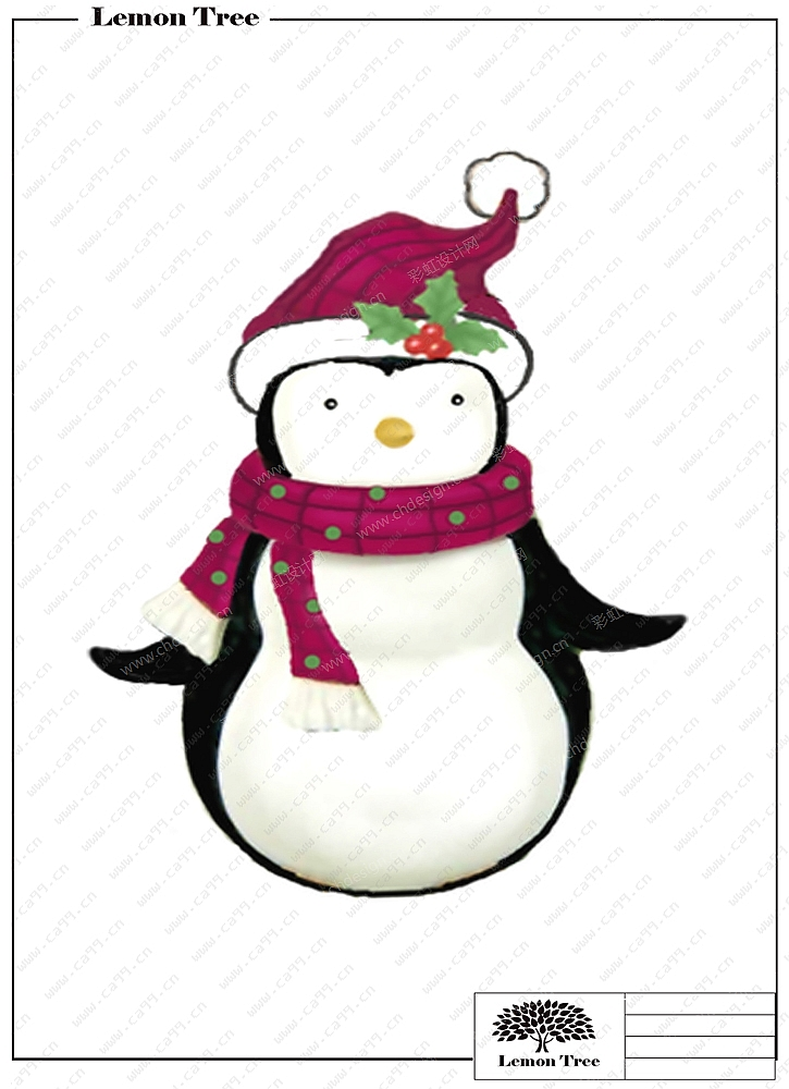 圣诞企鹅摆件