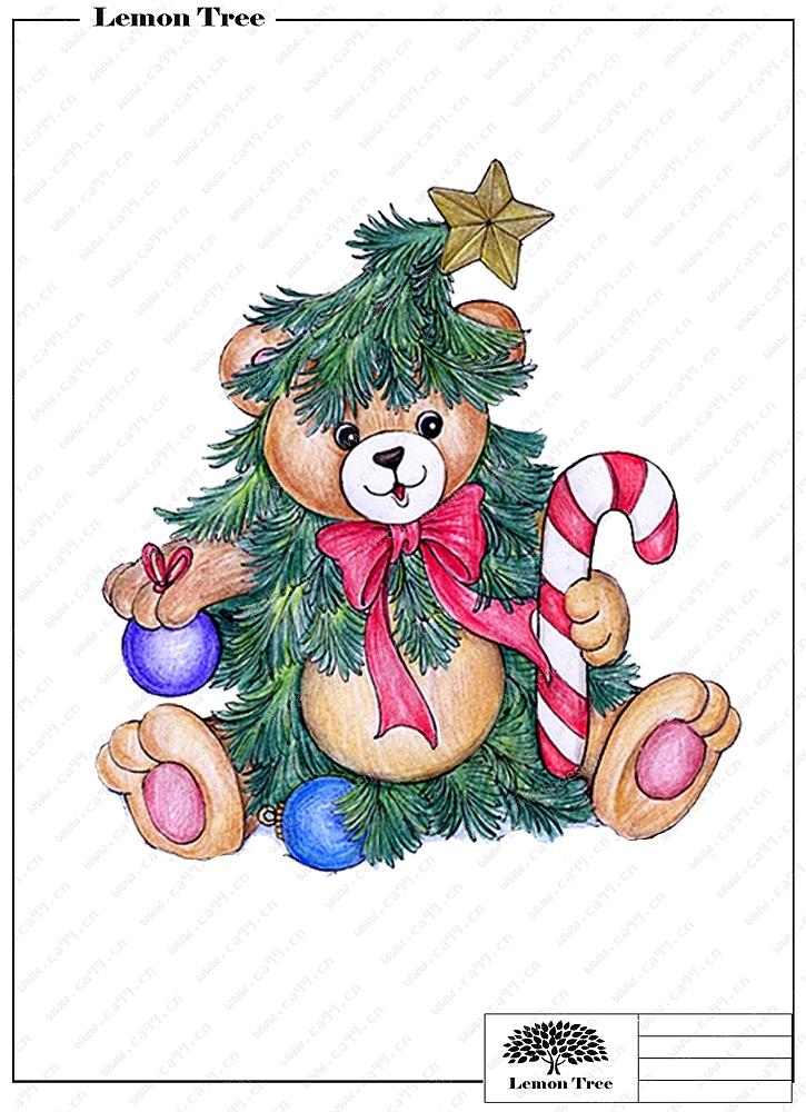 圣诞熊摆件
