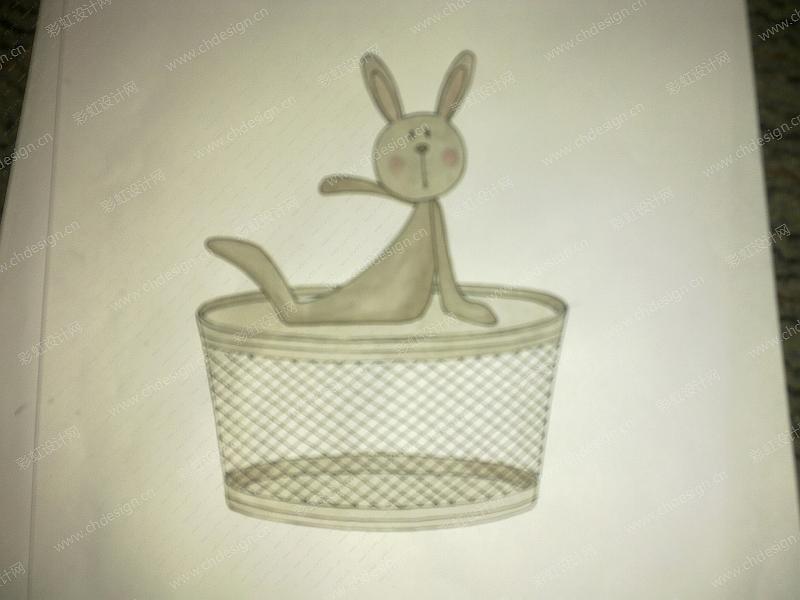 铁件兔子-收纳盒