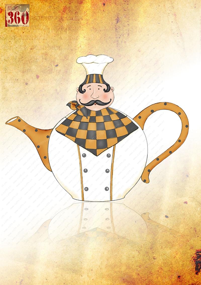 厨师茶壶厨师