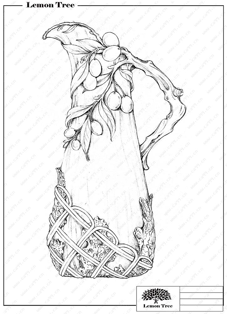 陶瓷橄榄枝花插