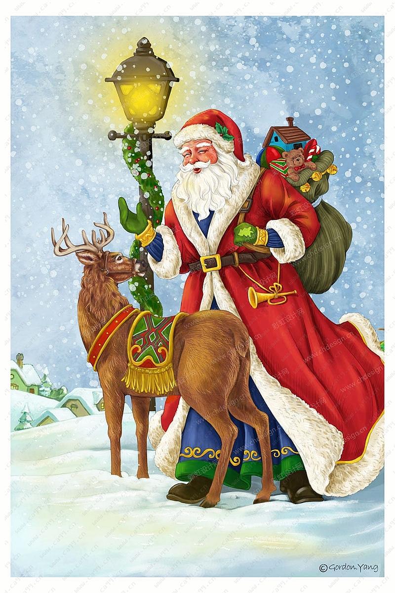 圣诞节老公麋鹿设计