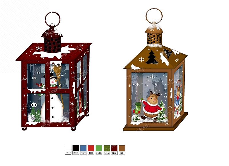 圣诞雪人风灯