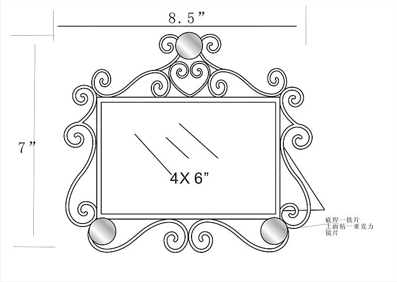 多层铁件相框