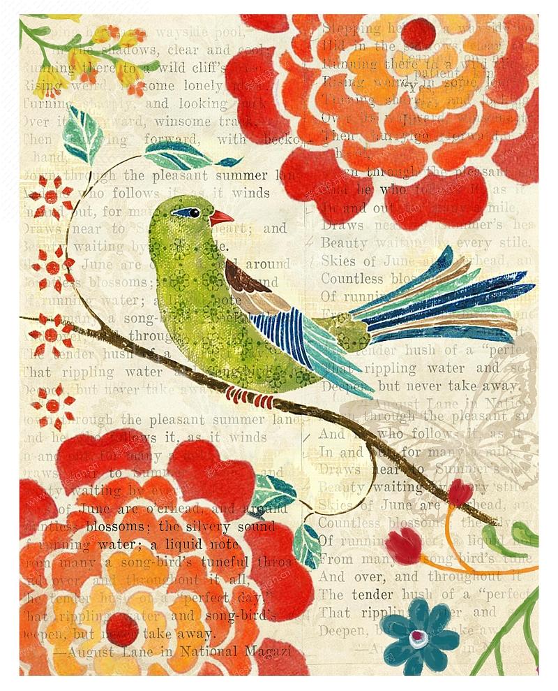花鸟-贴纸