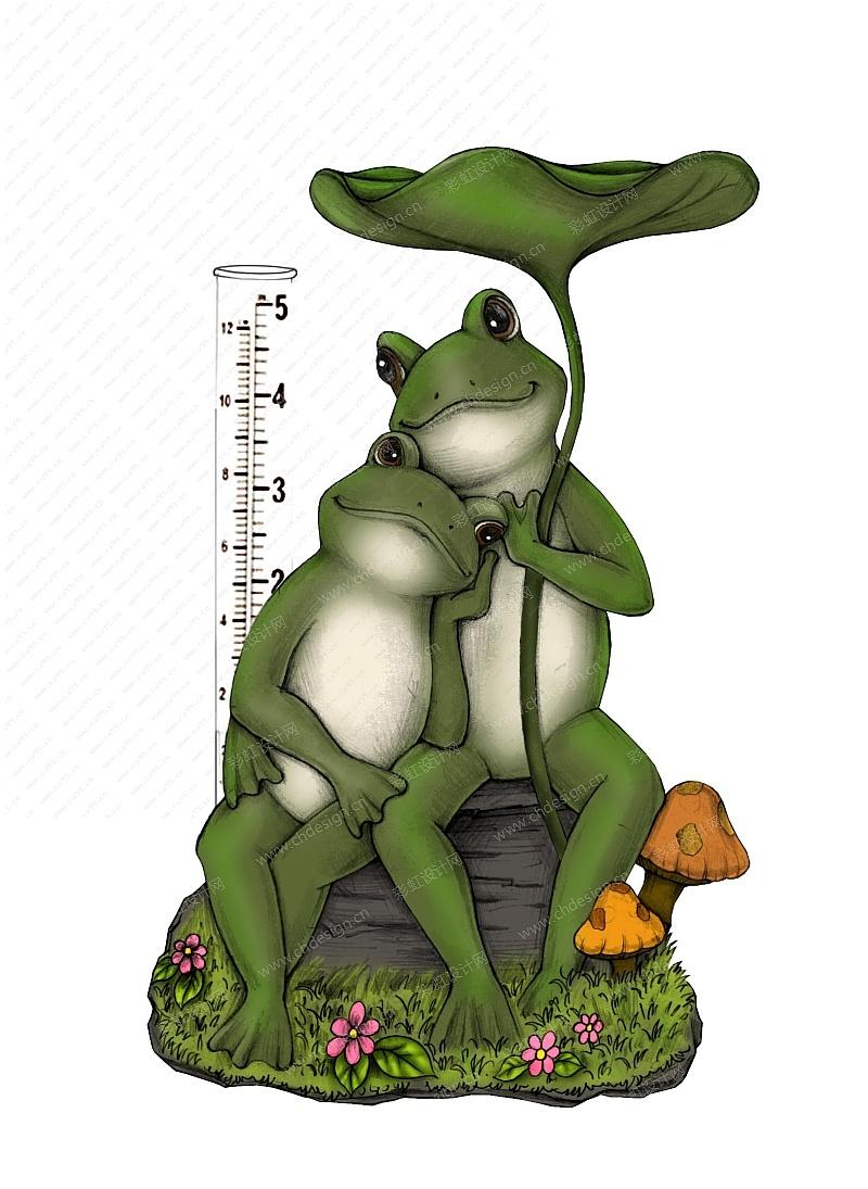 花园摆件-青蛙量雨器