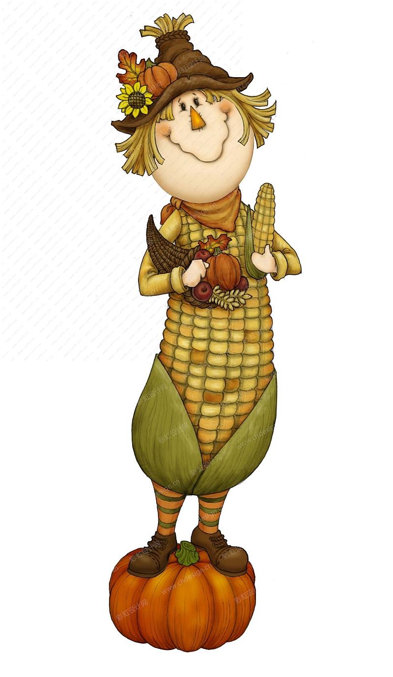 丰收节玉米人-摆件