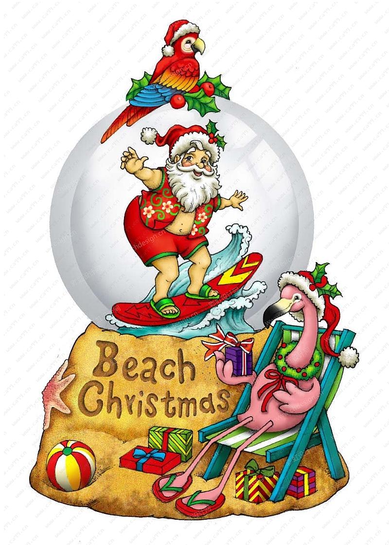 圣诞水球圣诞老人
