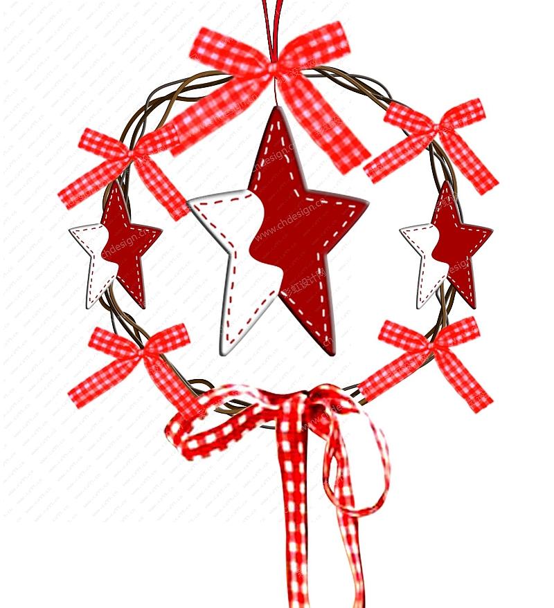 圣诞圈圈吊件