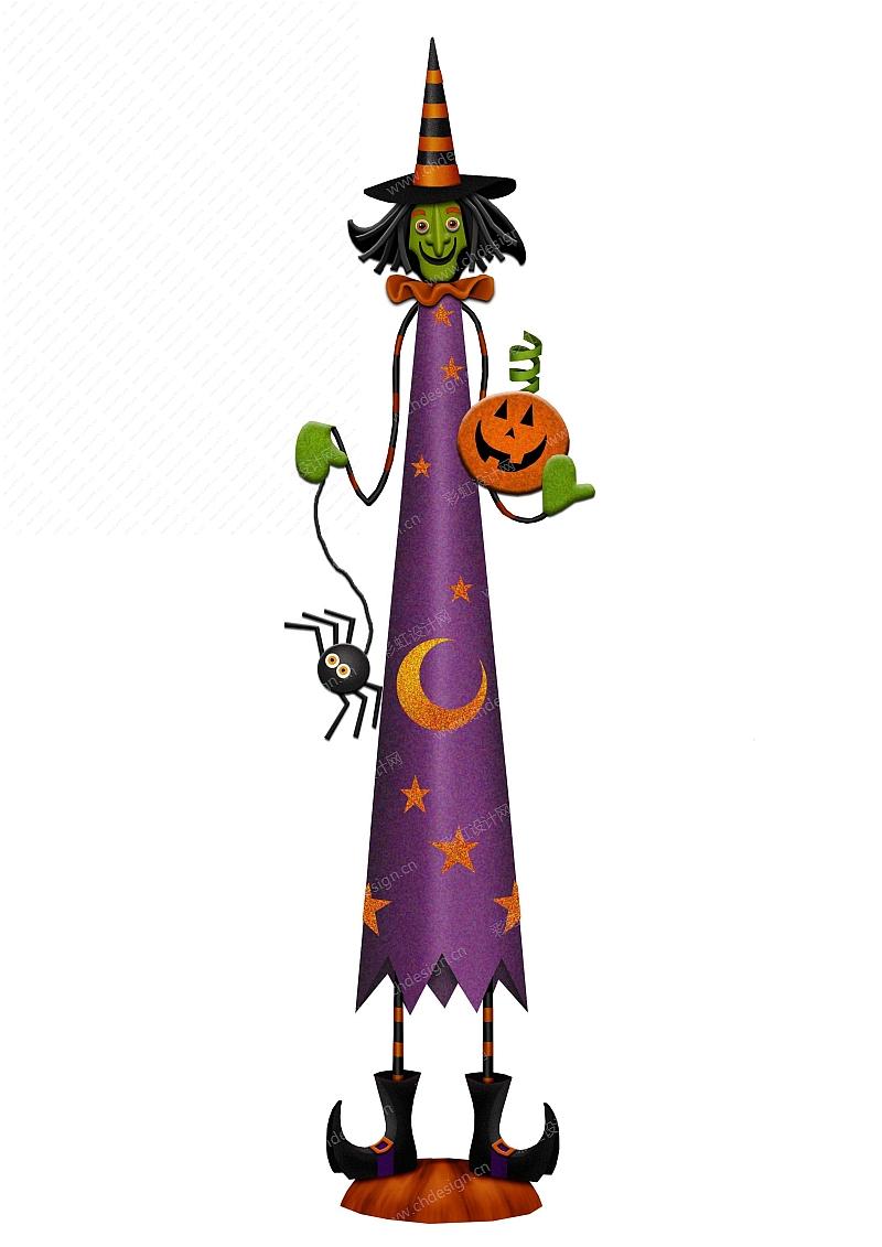 万圣节巫婆-摆件