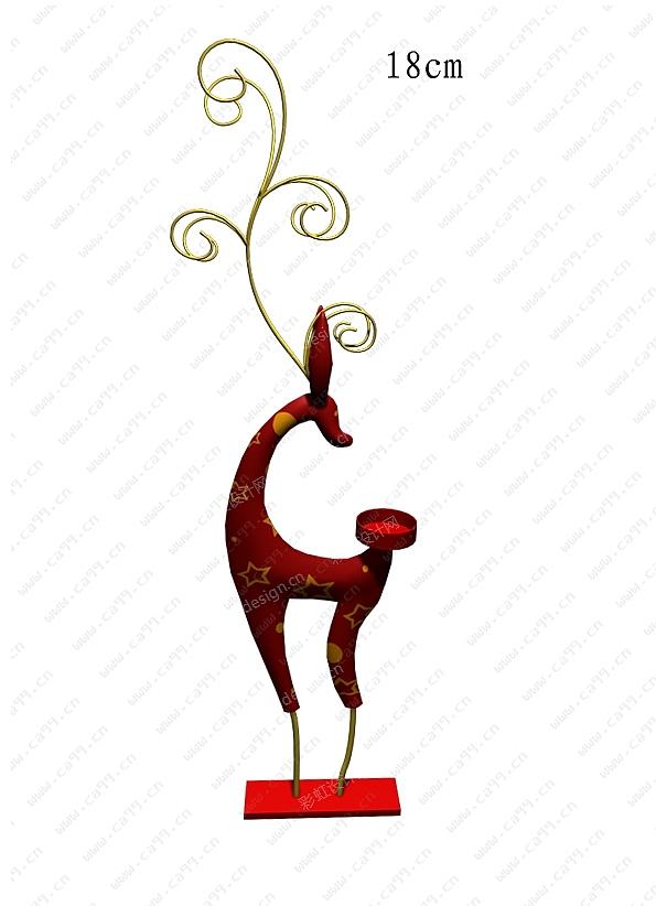 圣诞麋鹿烛台
