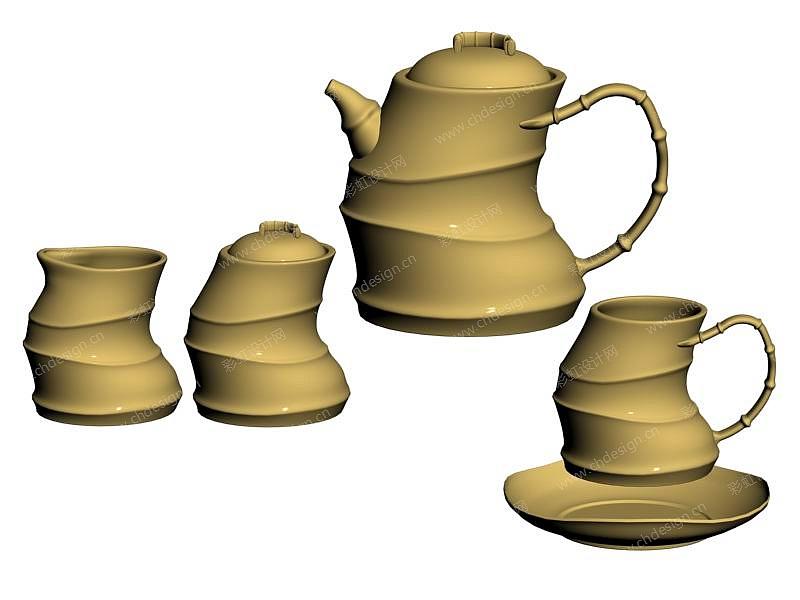 竹节咖啡具