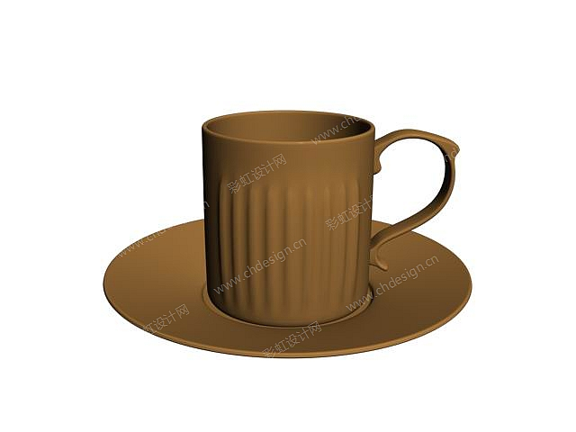 浮雕条纹咖啡具系列
