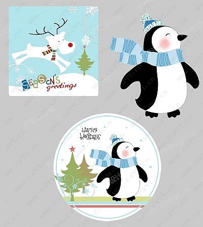 圣诞企鹅餐具系列