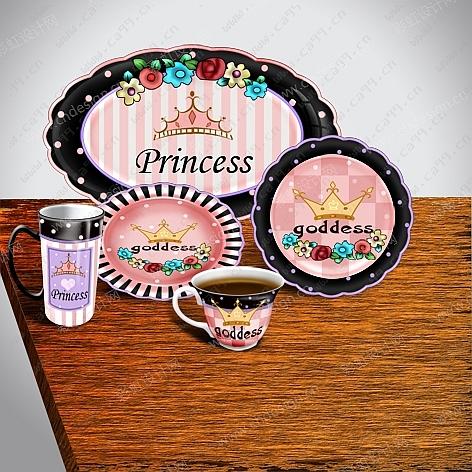 公主系列餐具