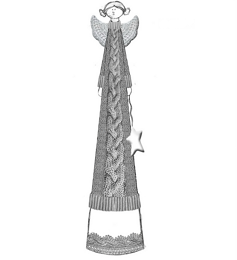 陶瓷毛线天使
