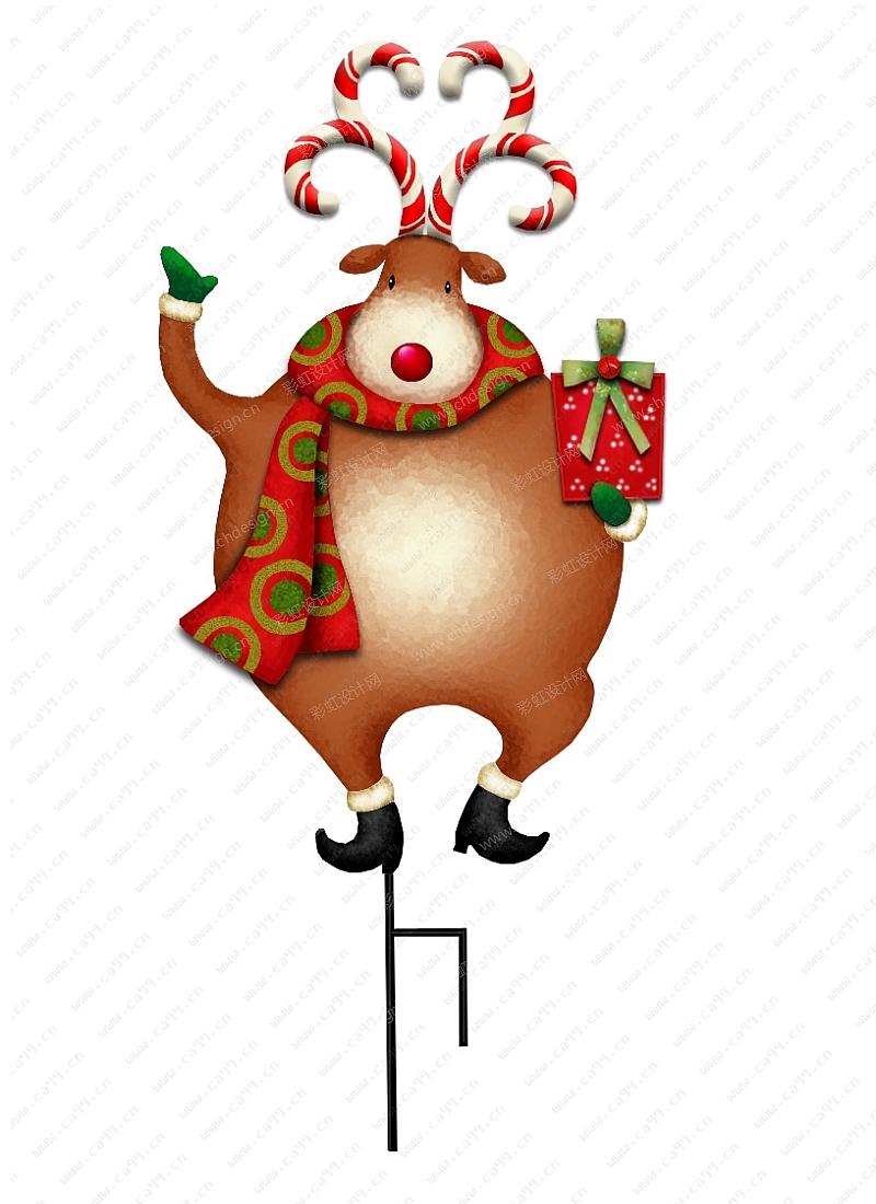 圣诞节麋鹿插件