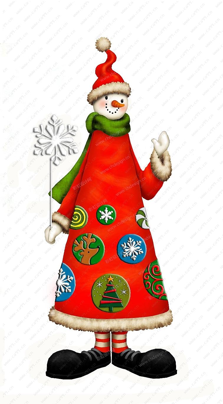 圣诞节雪人摆件
