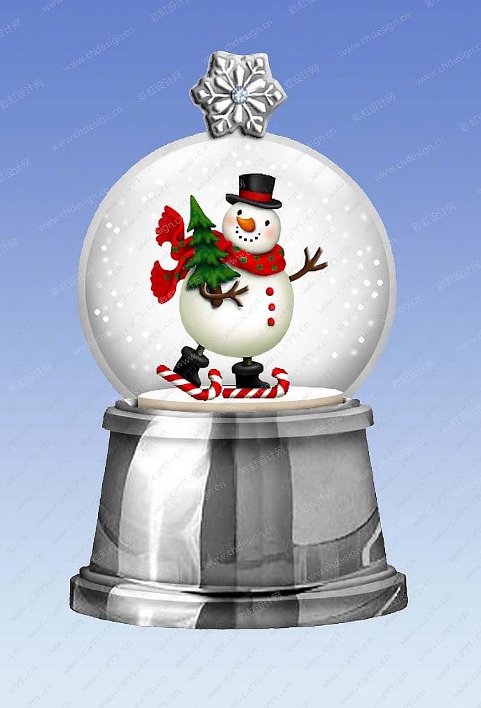 圣诞雪人水球