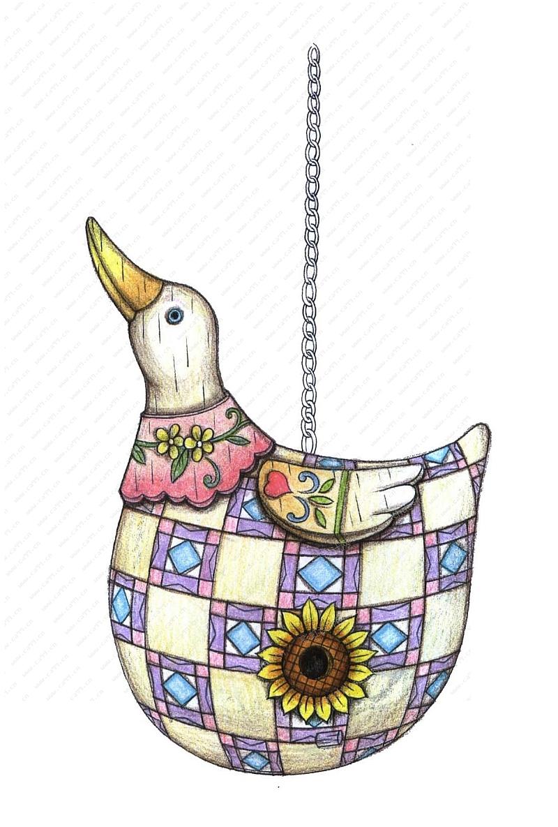 花园动物吊饰鸭子
