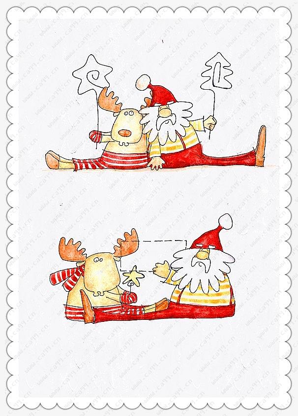 圣诞老人名片夹