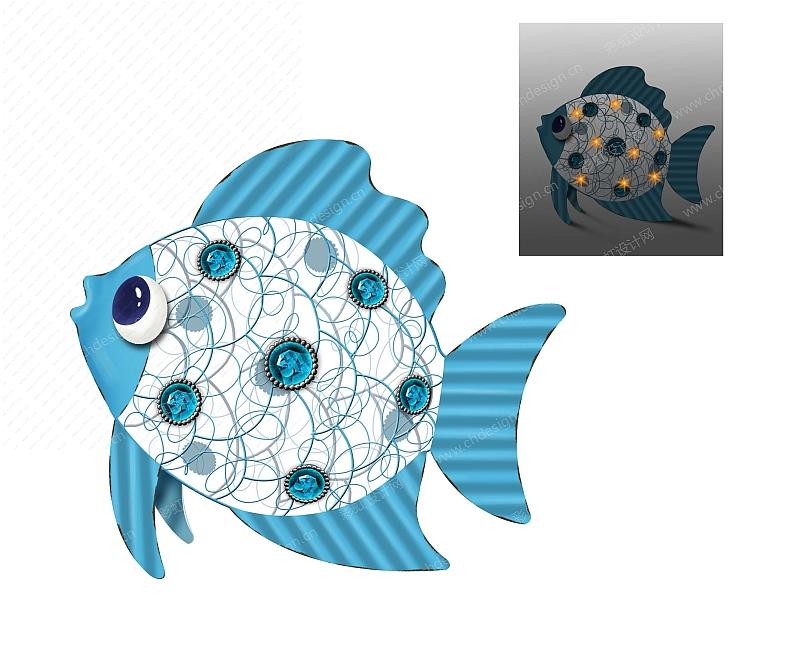 海洋鱼烛台