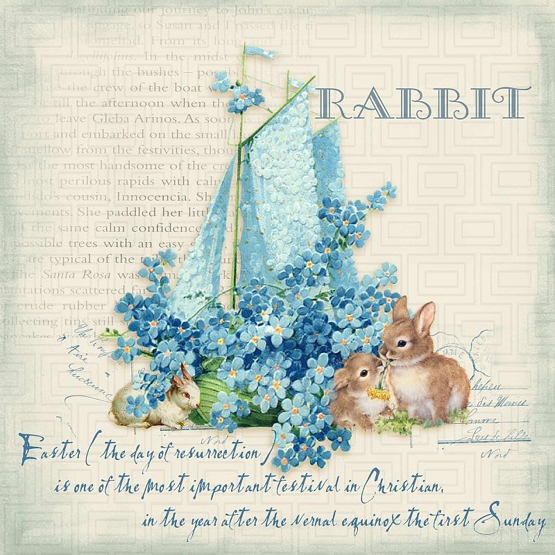 节日复活节兔子