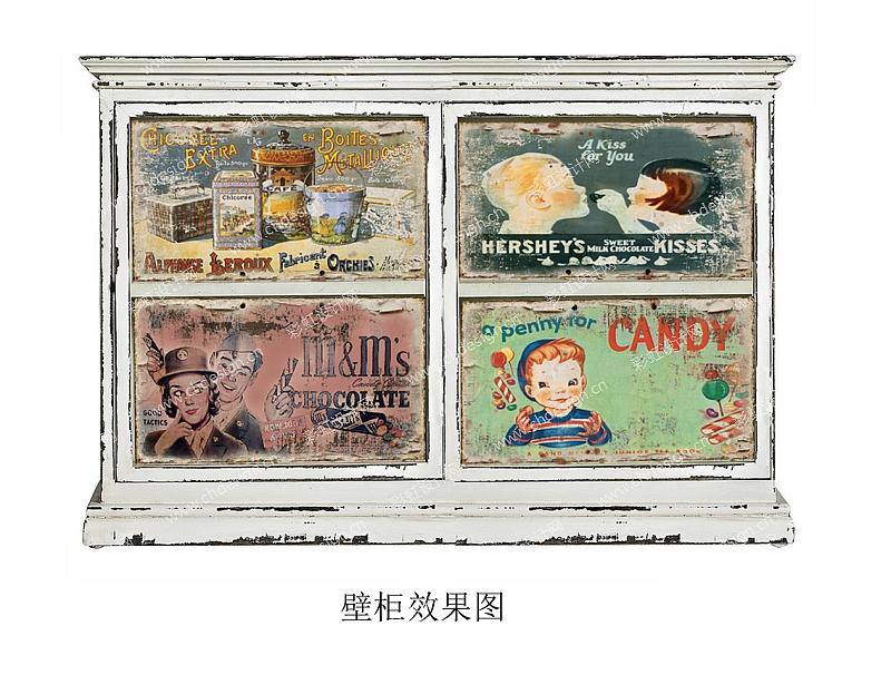 糖果罐复古图案挂柜产品设计
