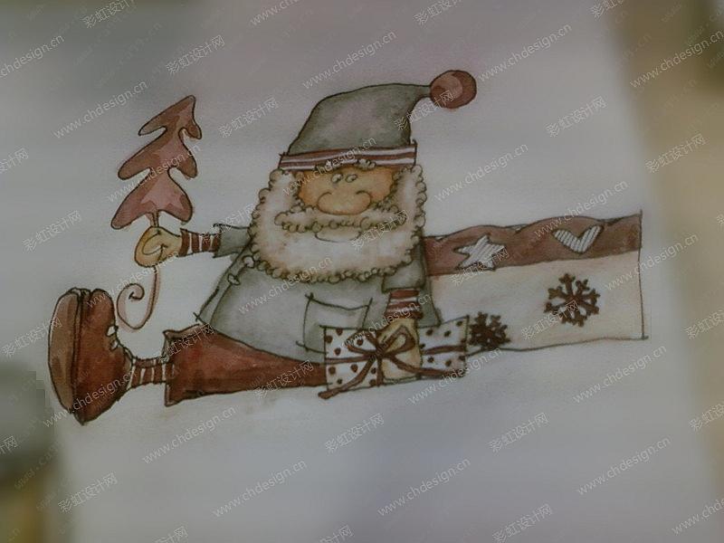 圣诞老人树脂烛台