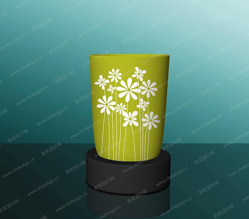 玻璃罐花草图案烛台