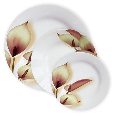 陶瓷花面盘子
