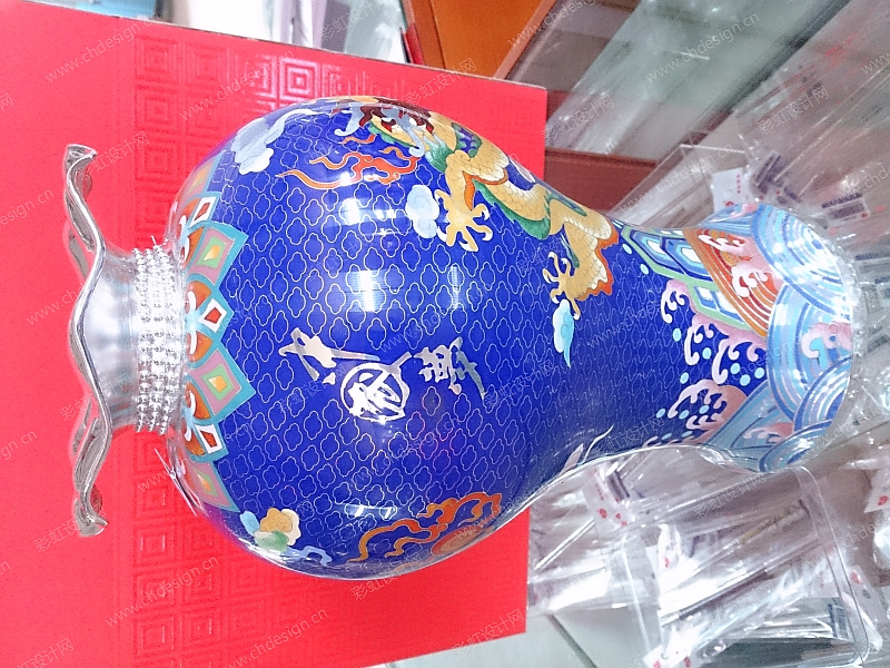 掐丝珐琅纯银花瓶-中国梦