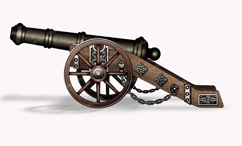 园艺装饰大炮