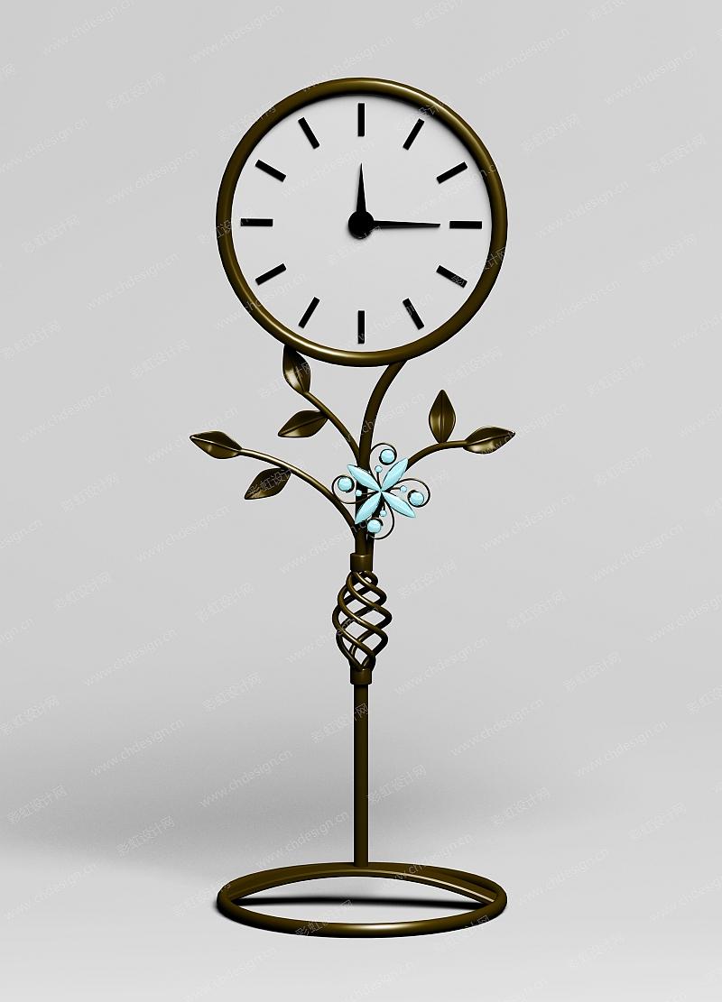 铁艺桌面时钟